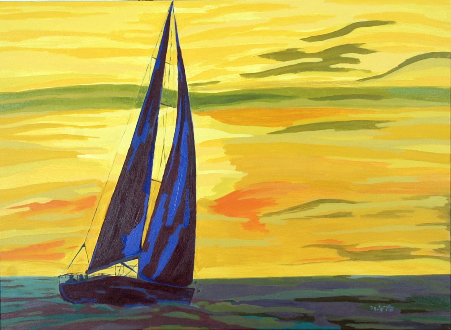 La obra el mar nietto - Acrilico sobre lienzo ...